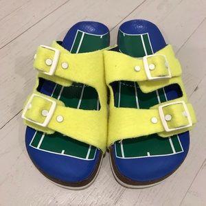 Tory Burch tennis Birkenstock flat sandals preppy